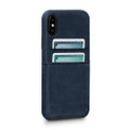 Sena Bence Snap-on Leather Wallet case with card pockets, iPhone X - Denim Blue