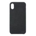 Power Support - Ultrasuede Air Jacket - Ultra thin protection case with suede like material - iPhone X, Asphalt Black