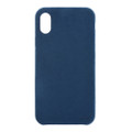 Power Support - Ultrasuede Air Jacket - Ultra thin protection case with suede like material - iPhone X, Blue