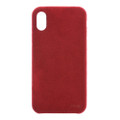 Power Support - Ultrasuede Air Jacket - Ultra thin protection case with suede like material - iPhone X, Red