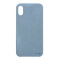 Power Support - Ultrasuede Air Jacket - Ultra thin protection case with suede like material - iPhone X, Sky Blue