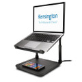 Kensington SmartFit Laptop Riser Stand with Qi Wireless Charging Pad - for iPhone and Qi Wireless enabled devices