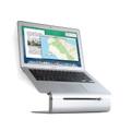 Rain Design iLevel2 - height adjustable aluminium desktop stand for Apple MacBook and MacBook Pro - Silver