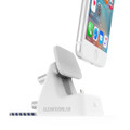 ElevationLab Elevation Dock 4 angle adjustable dock with integrated lightning cable for iPhone, White/Silver