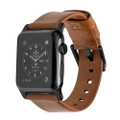 Nomad Horween Genuine Leather Strap for Apple Watch 38mm/40mm, Rustic Brown with Black hardware