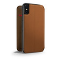 Twelve South - SurfacePad minimalist thin genuine leather case/cover for iPhone X / XS, Cognac Brown