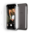 LuMee Duo - protective case with front and back facing lights - for the perfect selfie or video, iPhone X / XS, Black