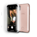 LuMee Duo - protective case with front and back facing lights - for the perfect selfie or video – iPhone X, Rose Pink