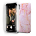 LuMee Selfie Marble - protective case with front facing lights - for the perfect selfie - iPhone X / XS, Pink Quartz