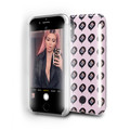 LuMee Duo Kimoji Lit  - protective case with front and back facing lights - for the perfect selfie or video, iPhone X / XS, Pink