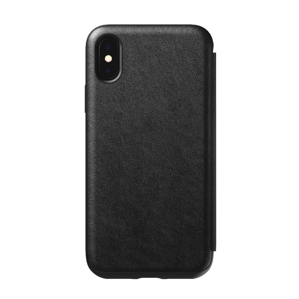 newest collection 5f422 91257 Nomad Horween Leather Rugged Folio Wallet case - genuine leather - iPhone X  / XS, Black