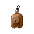 Twelve South AirSnap - genuine leather protection case for Apple AirPods, Cognac Brown