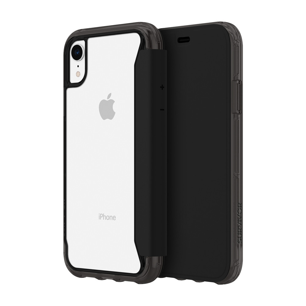 huge selection of 36ae8 efa3e Griffin Survivor - Clear Wallet drop protection case with card slots -  iPhone XR, Clear/Black