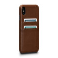Sena Deen Snap-on Leather Wallet case with card pockets, iPhone XS Max - Brown