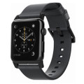 Nomad Horween Genuine Leather Strap for Apple Watch 42/44mm, Slate Grey with Black hardware