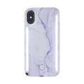 LuMee Duo - protective case with front and back facing lights - for the perfect selfie or video, iPhone X/XS, Lavender Marble