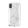 LuMee Duo - protective case with front and back facing lights - for the perfect selfie or video, iPhone XS Max, White Marble
