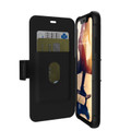 UAG Urban Armor Gear - Metropolis Series Folio Wallet Case - rugged military spec protection - iPhone XR, Black