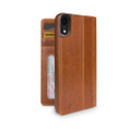 Twelve South Journal - full grain genuine leather folio wallet case - iPhone XR, Cognac Brown