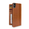 Twelve South Journal - full grain genuine leather folio wallet case - iPhone XS Max, Cognac Brown