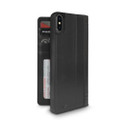 Twelve South Journal - full grain genuine leather folio wallet case - iPhone XS Max, Black