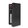 Twelve South Journal - full grain genuine leather folio wallet case - iPhone XS Max, Black