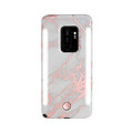 LuMee Duo - protective case with front and back facing lights - for the perfect selfie or video, Galaxy S9 Plus, Rose Metallic