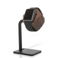 Woodcessories - EcoDock - premium solid wood and brushed steel desktop stand for Apple Watch, Walnut