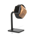 Woodcessories - EcoDock - premium solid wood and brushed steel desktop stand for Apple Watch, Oak