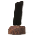 Woodcessories - EcoDock - premium solid wood desktop charger stand for iPhone, Walnut