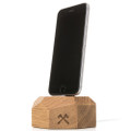 Woodcessories - EcoDock - premium solid wood desktop charger stand for iPhone, Oak