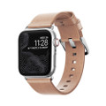 Nomad Horween Genuine Leather Slim Strap for Apple Watch 40mm, Natural with Silver hardware