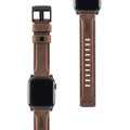 UAG Urban Armor Gear Leather Watch Strap with stainless steel hardware for Apple Watch -42/44mm, Brown