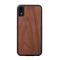 Woodcessories - EcoBump - genuine wood bumper case - iPhone XR, Walnut