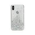 Switcheasy Starfield protection case with Glitter Foil Elements - iPhone XS - Ultra Clear
