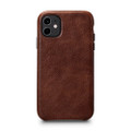 Sena LeatherSkin - minimalist genuine leather case - iPhone 11, Cognac Brown