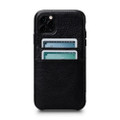 Sena Snap On Wallet Case - genuine leather case with card pockets - iPhone 11 Pro, Black
