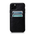 Sena Snap On Wallet Case - genuine leather case with card pockets - iPhone 11 Pro Max, Black