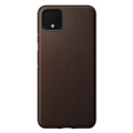 Nomad Horween Leather Rugged case - vegetable tanned genuine leather - Google Pixel 4 XL, Brown