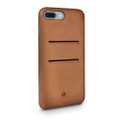 Twelve South Relaxed Leather - genuine burnished leather case with pockets - for iPhone 7 Plus/8 Plus, Cognac Brown