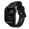 Nomad Rugged Watch Strap - Black with stainless steel hardware for Apple Watch 42/44mm, Black with Black Hardware