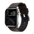 Nomad Active Strap Pro Waterproo Leather for Apple Watch 42/44mm, Brown with Silver hardware