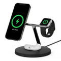 Belkin - 3-in-1 Wireless Charger with MagSafe for iPhone, Apple Watch, AirPods - Black