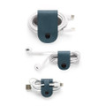 Twelve South CableSnap - Genuine leather cable organisers, Teal