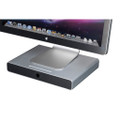 Just Mobile Drawer, aluminium Monitor Stand and Storage - Apple iMac & Cinema Display