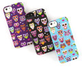 Griffin Wise Eyes hard shell case, Cute & Fun Owl Motif Design, Black/Pink - iPhone 5 / 5s