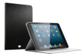 iSkin Aura folio case with Brushed Aluminium type finish, Black - iPad Mini