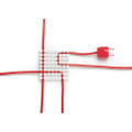 Cablox - cable organiser with adhesive backing - suitable for thin and thicker cables - Large, White