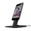 Twelve South HiRise Deluxe - Adjustable metal Desktop Stand/Dock with lightning and micro USB cable - iPhone & iPad Mini, Black