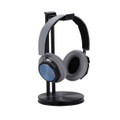 Just Mobile Headstand – designer Headphone hanger / desktop stand - aluminium, black